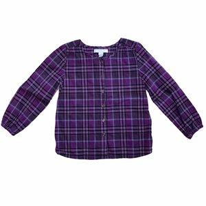 Burberry girls size 5 purple shirt